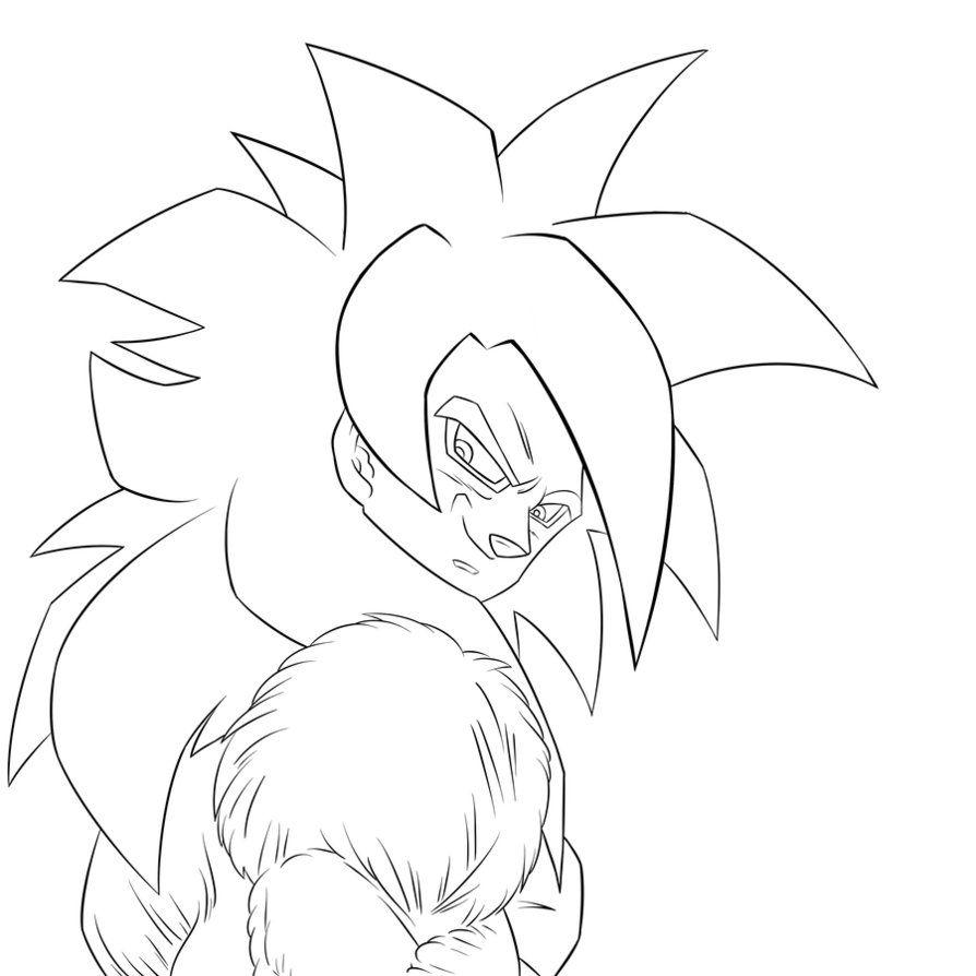 Dragon Ball Z Goku Super Saiyan 4 Coloring Pages Az Z Goku Saiyan 4 Coloring Pages