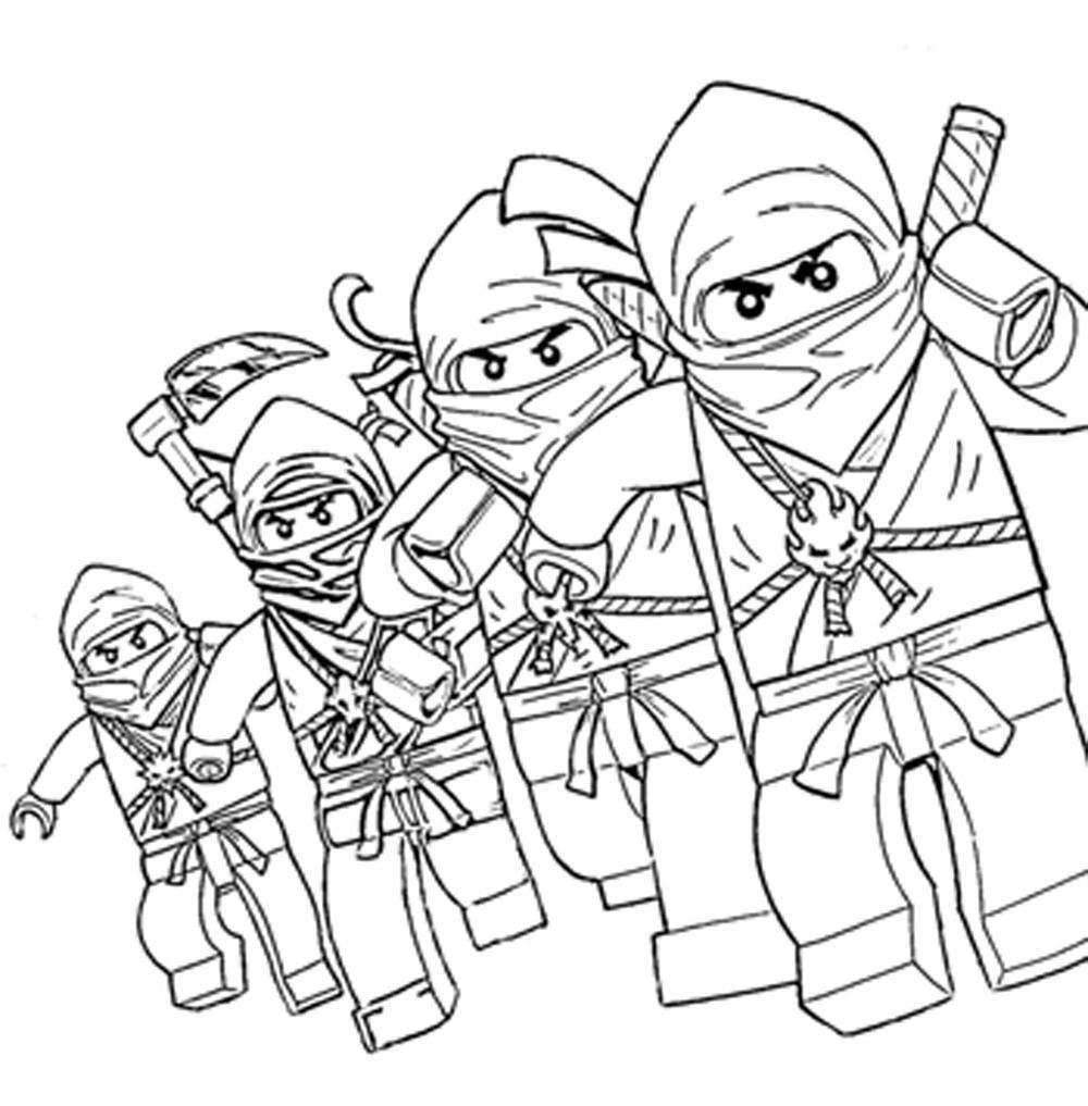 Coloring Sheet Ninjago : Free Printable Lego Ninjago Coloring Pages Coloring Home