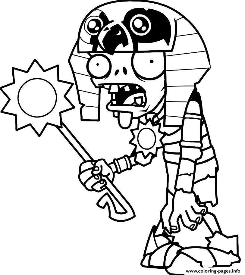 Print egypt plants vs zombies Coloring pages