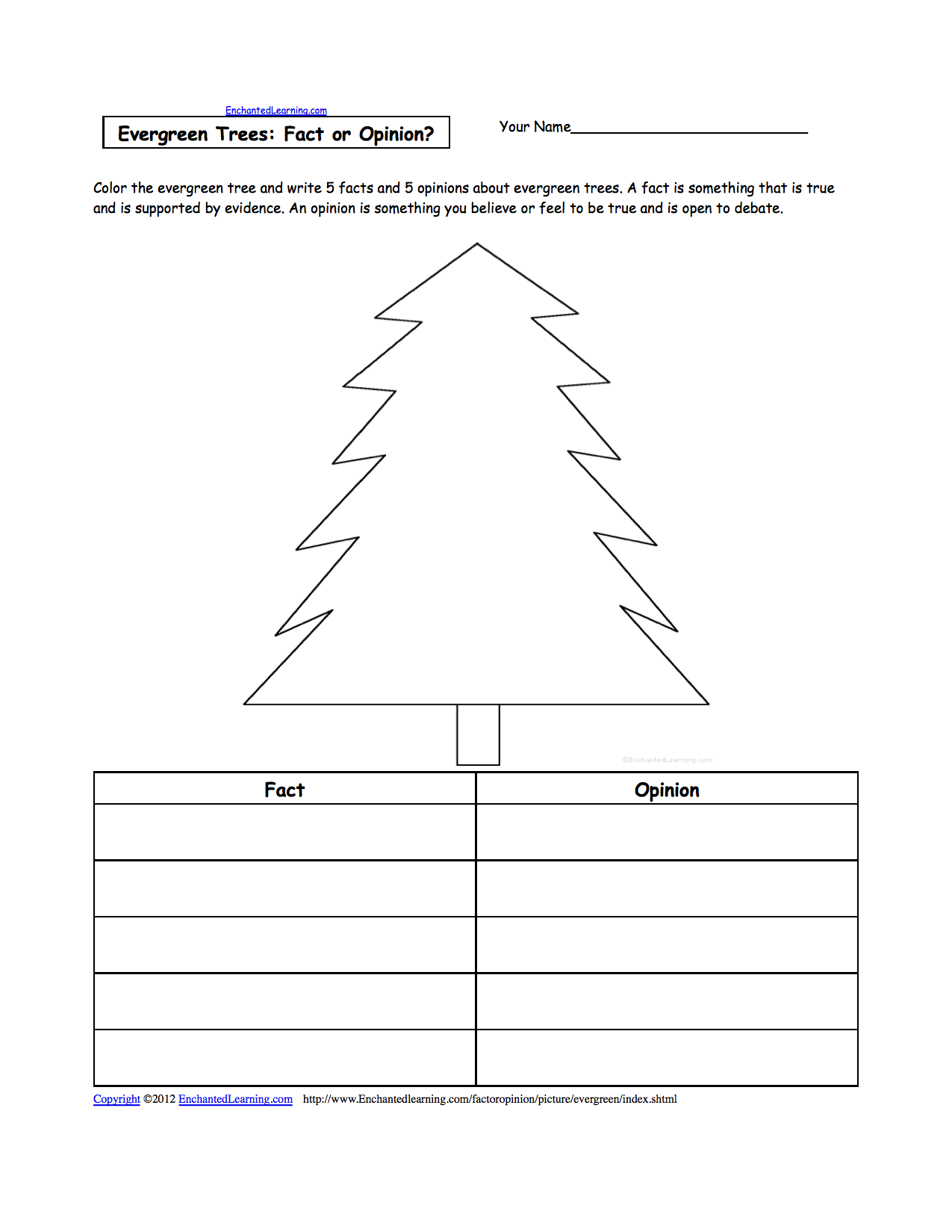 Evergreen Coloring Page AZ Coloring