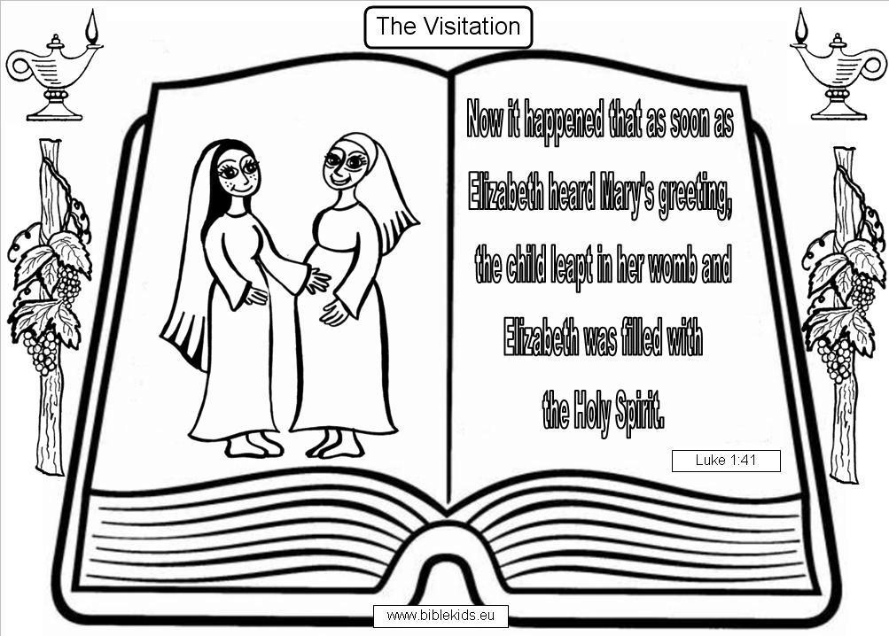 Elizabeth And Zechariah Coloring Page Bible Pics