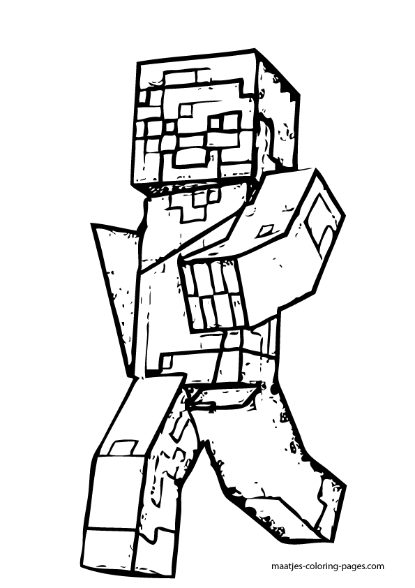 free minecraft zombie coloring pages - photo#13