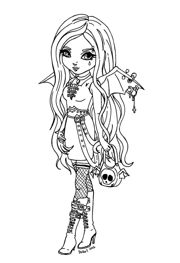 Goth Coloring Pages High Quality Coloring Pages Coloring Home