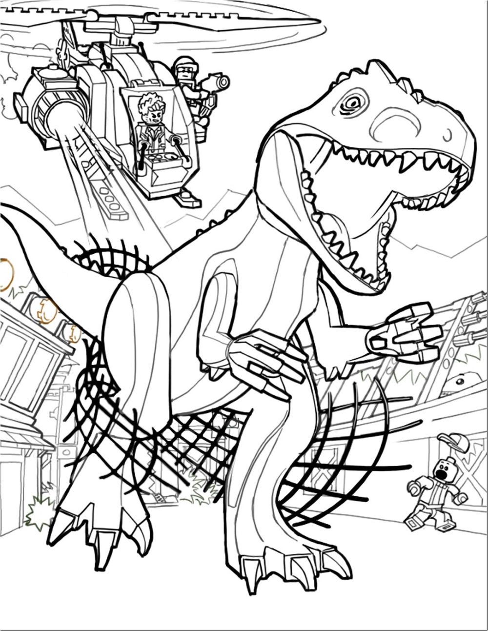 Lego Jurassic World Coloring Pages   Coloring Home