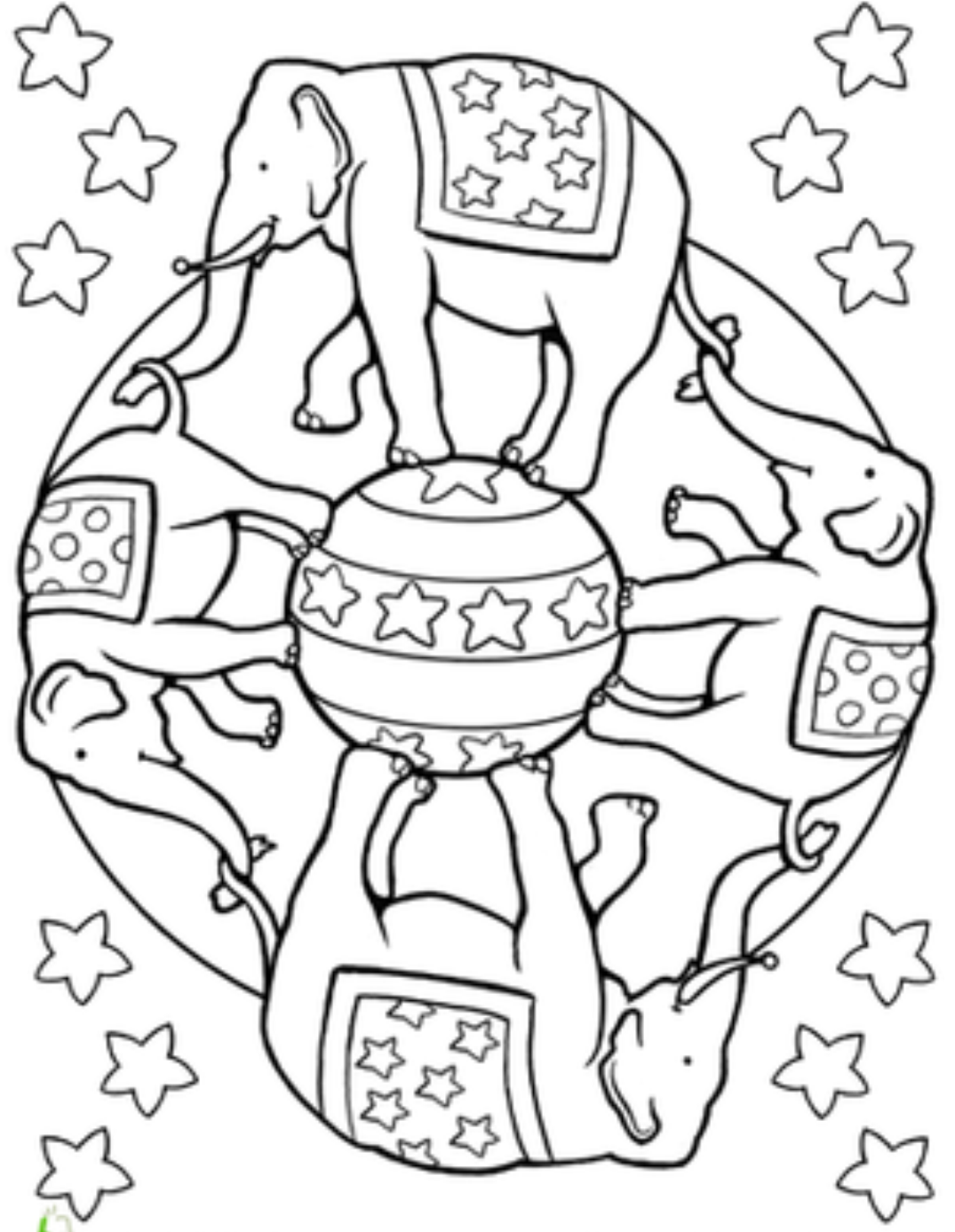 Circus Color Palettes Circus Color Jojo Circus Coloring Pages ...