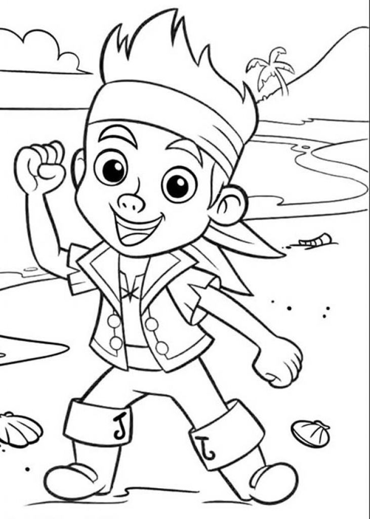 Jake and the never land pirates coloring pages az for Jake and the pirates coloring pages