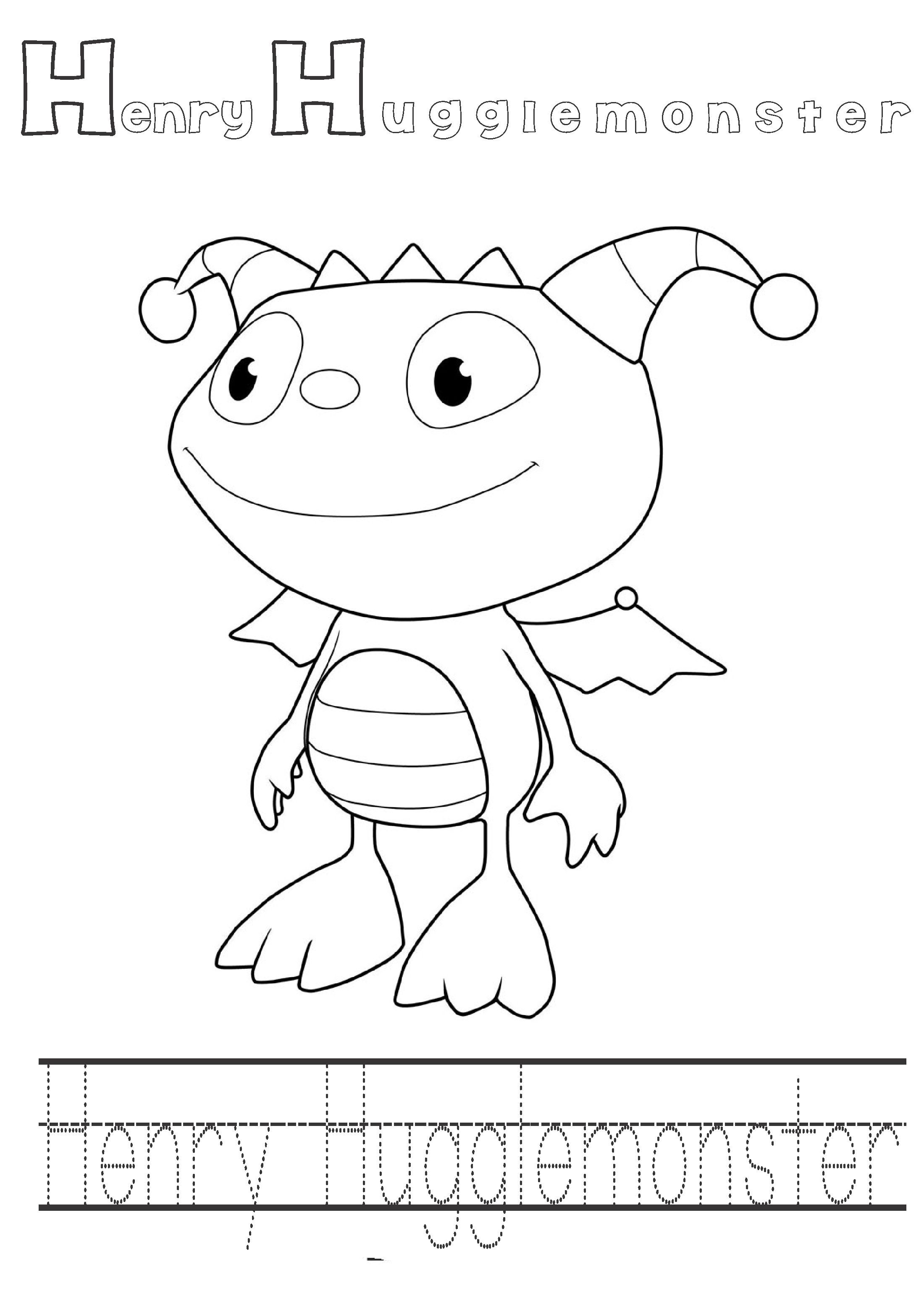 henry wiggle bottom coloring pages - photo#6