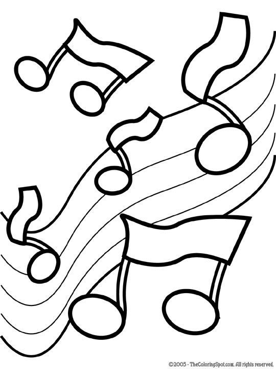 Music Coloring Pages | Music Notes 2 | Free printable coloring ...