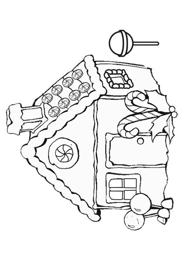 gingerbread coloring pages - gingerbread house coloring pages free coloring home