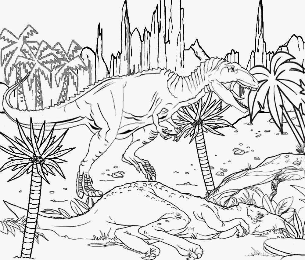 Jurassic Park Coloring Page Coloring