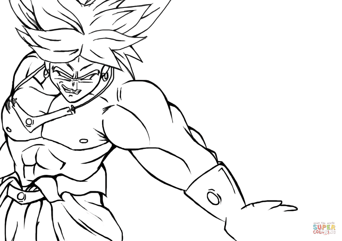 Broly from Dragon Ball Z coloring page | Free Printable Coloring Pages
