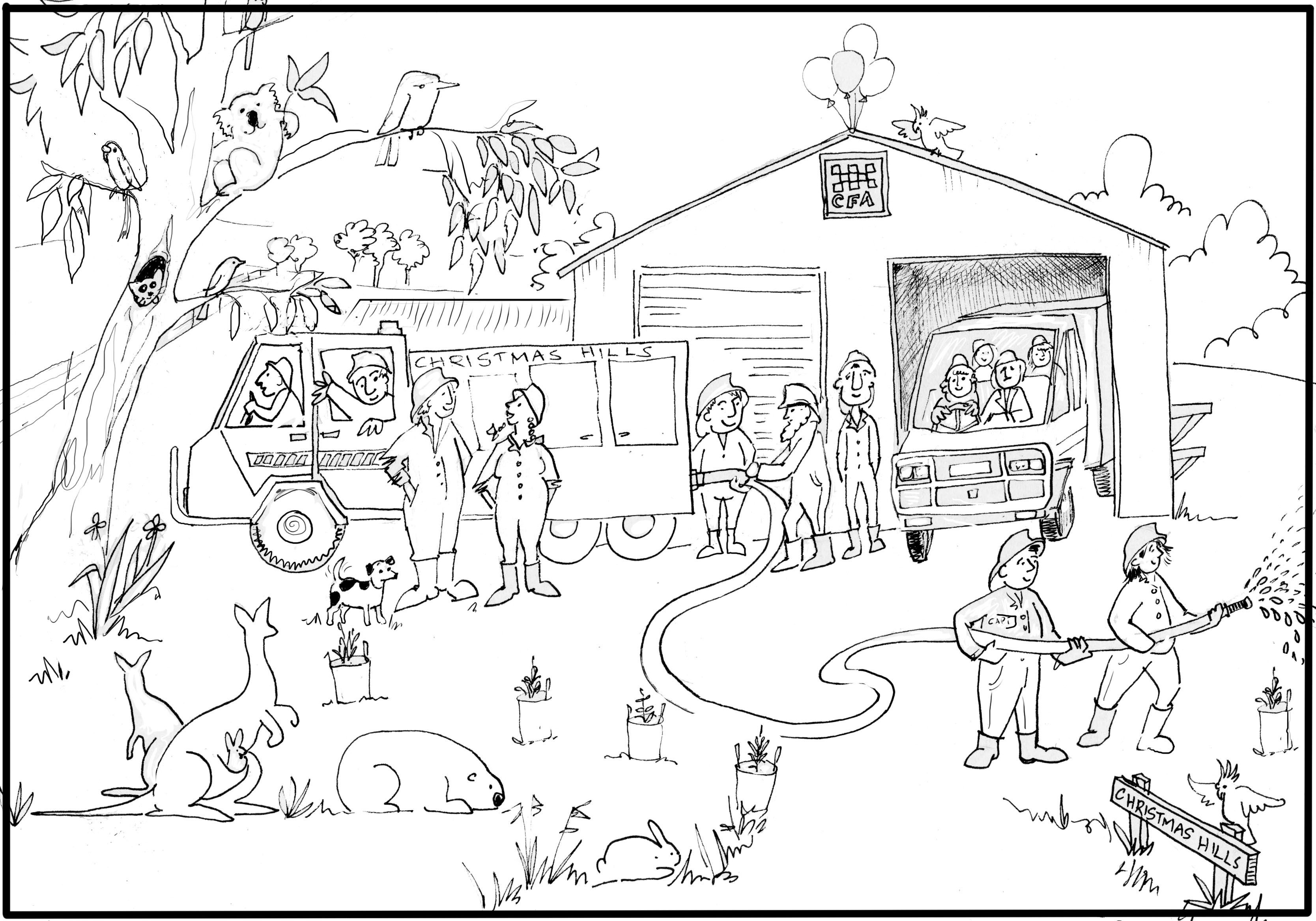 fire safety book coloring page coloring home