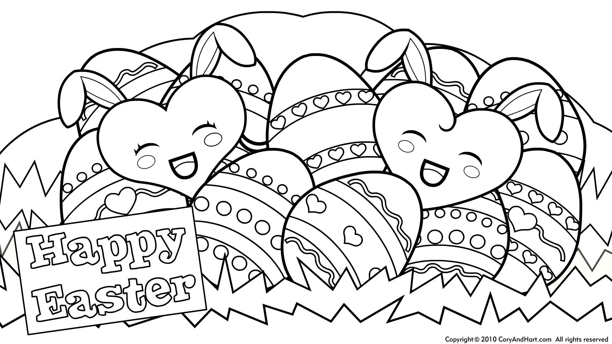 Amazing Of Gallery Of Printable Easter Egg Coloring Pages #196 ...
