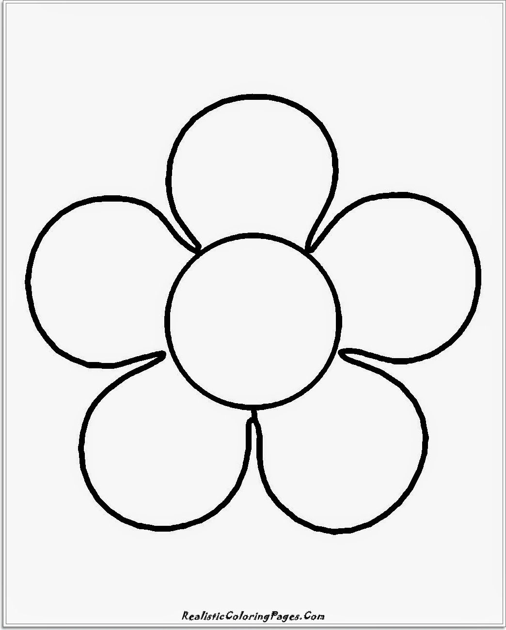 Flower coloring pages for kids for free ~ Easy Flower Coloring Pages - Coloring Home