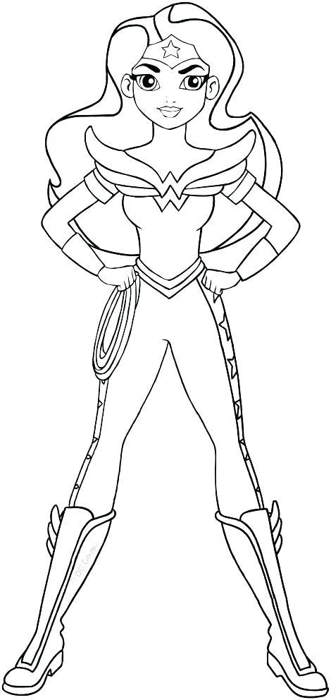 Wonder Woman Coloring Sheet