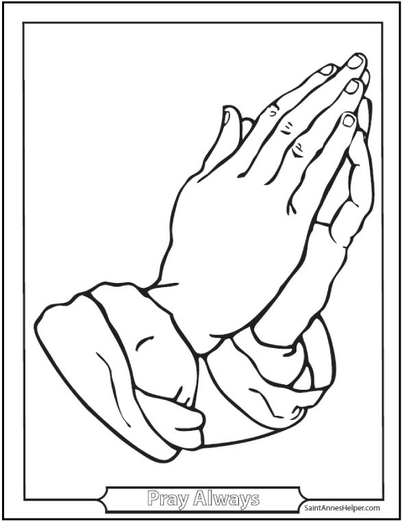 how to draw praying hands for kids