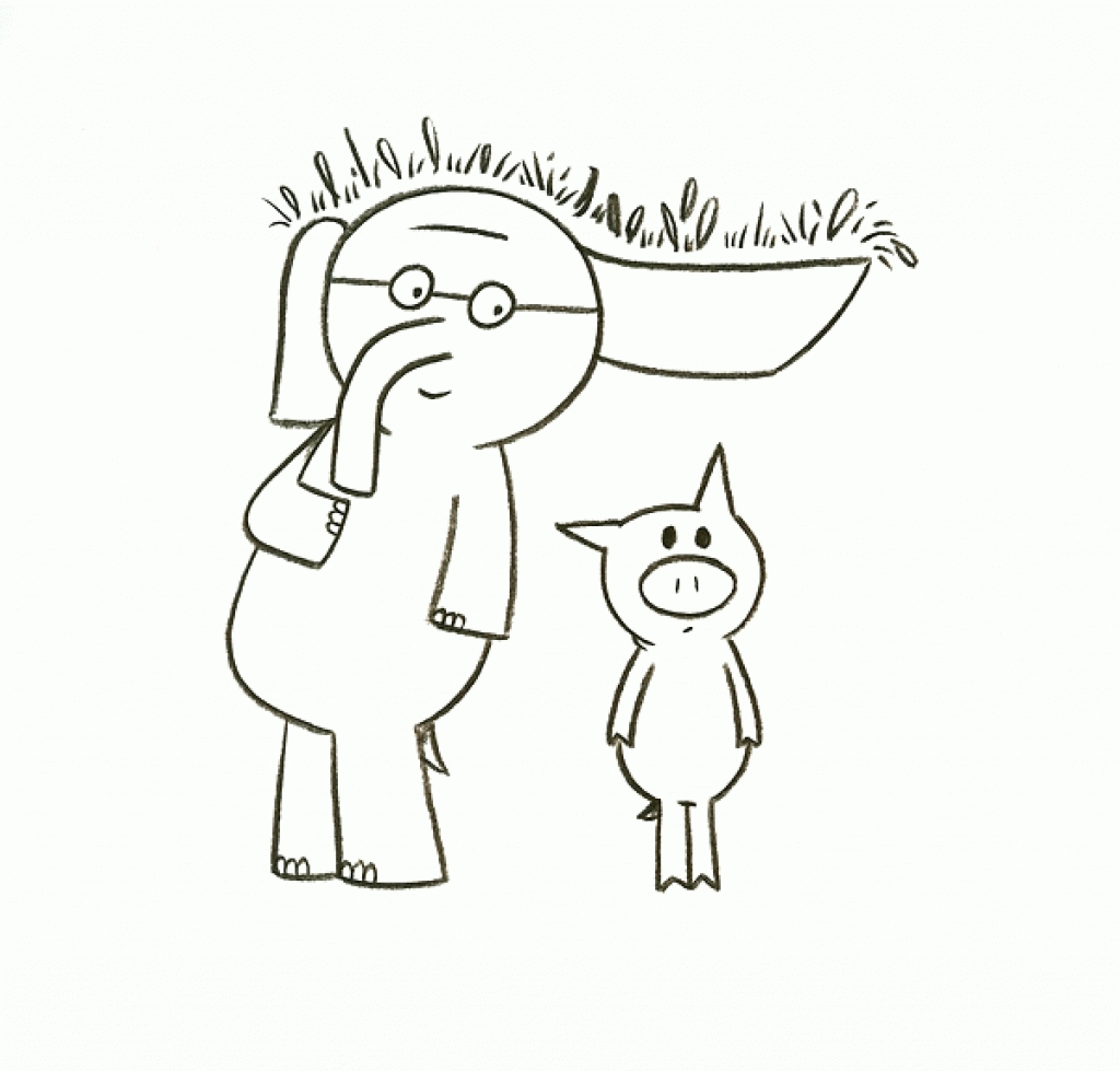 Elephant And Piggie Coloring Pages - Coloring Home