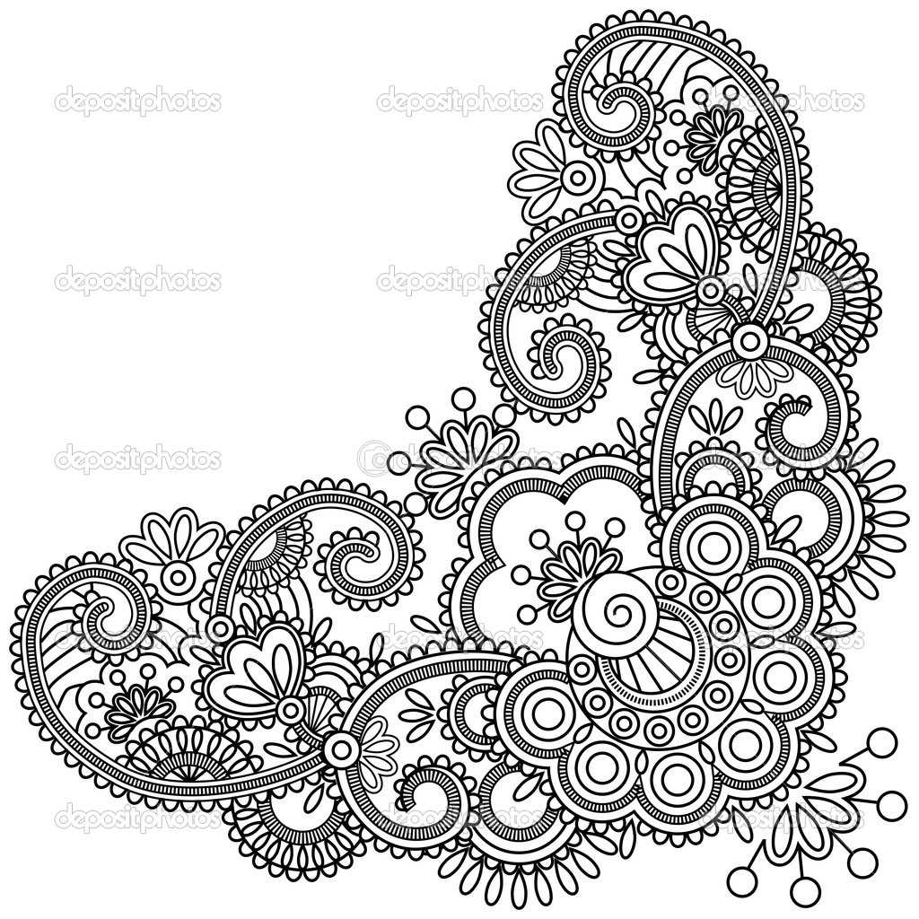 mehndi designs coloring book pages - photo#26