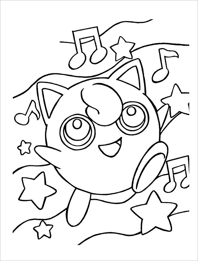 Pokemon Coloring Pages Printable Pdf : Cartoon characters pokemon coloring home