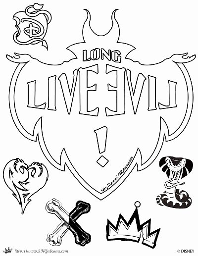 The Descendants - Free printable Coloring pages for kids | 517x400