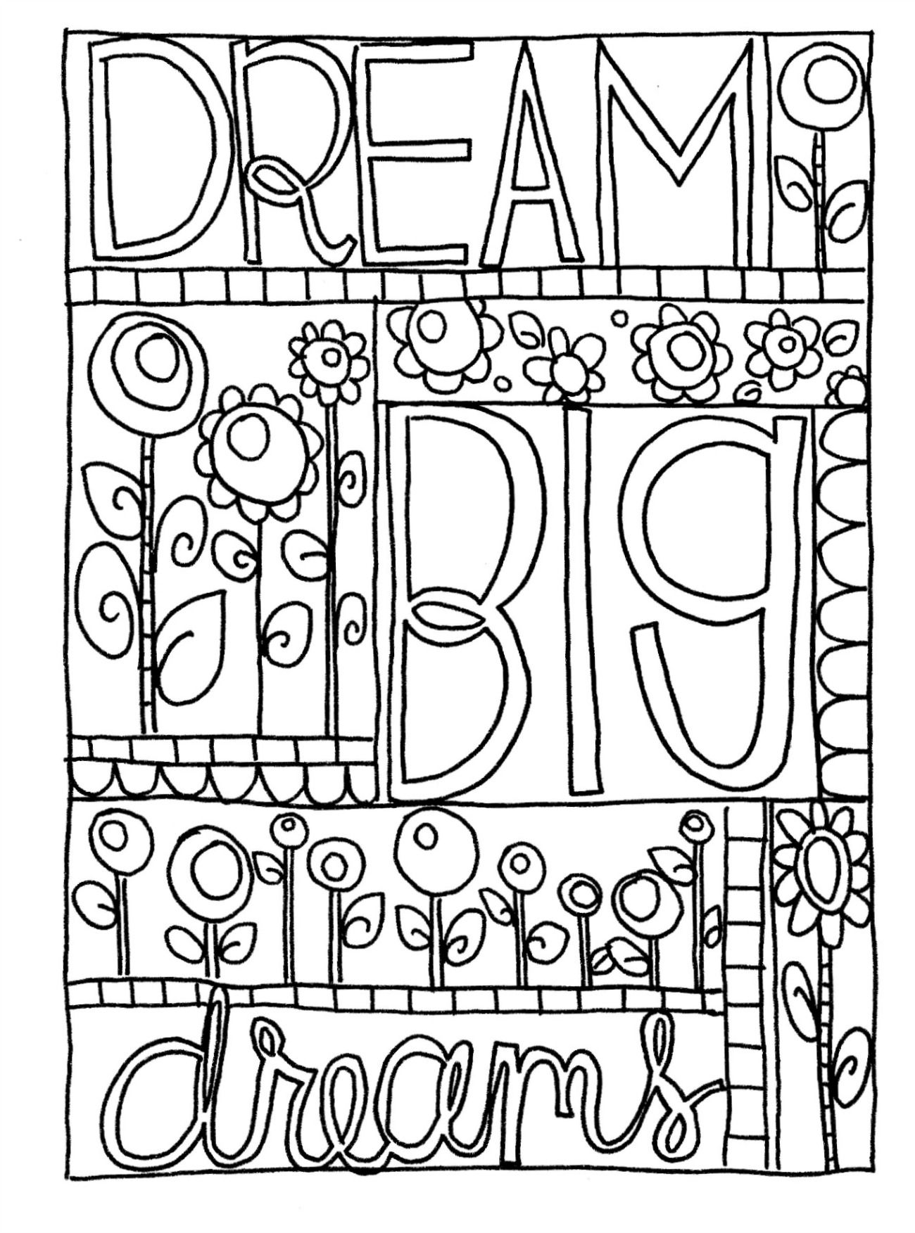 Doodle coloring pages for kids coloring home for Doodle coloring pages