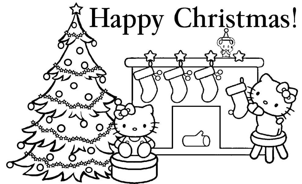 print hello kitty happy christmas coloring page or download hello