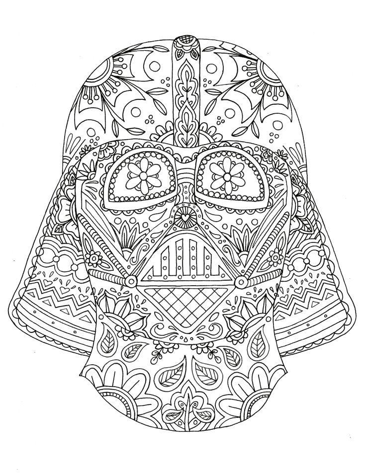 Darth Vader Helmet Coloring Page