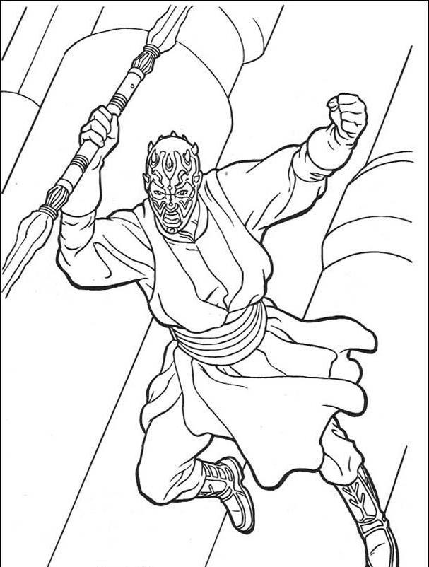 Darth Maul Coloring Page - Coloring Home