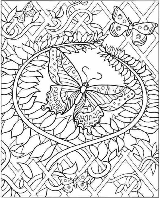 Hard Pictures To Print And Color - Coloring Pages for Kids and for ...
