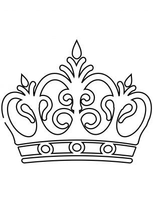 King Crown Coloring Page - Coloring Pages for Kids and for Adults