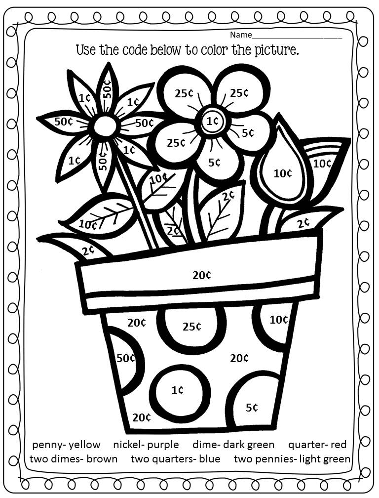 Free printable coloring pages by addition coloring home for Math coloring pages printable