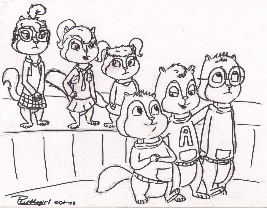the chipettes coloring pages free - photo#33