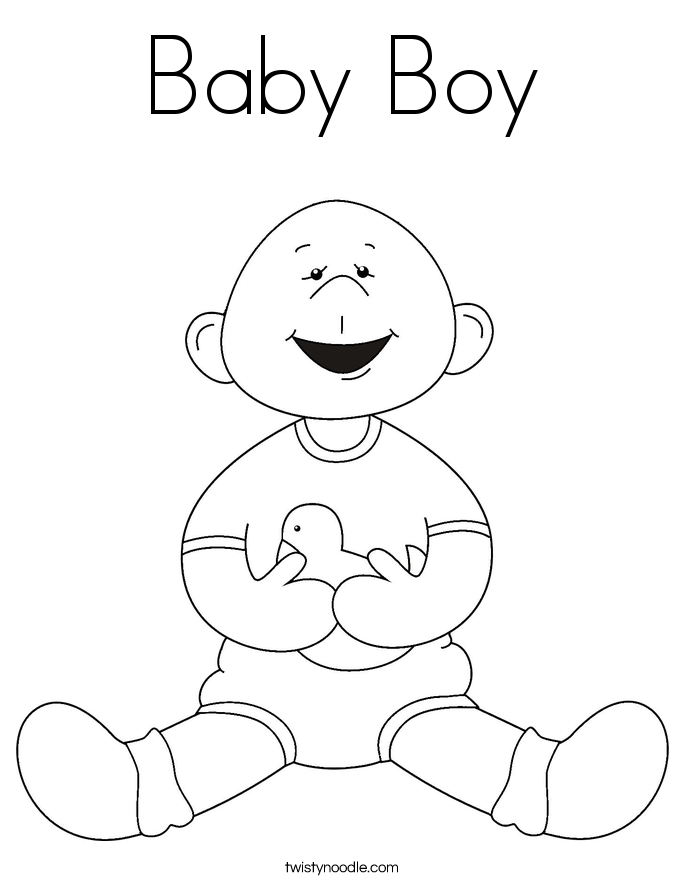 New Baby Coloring Pages - Twisty Noodle