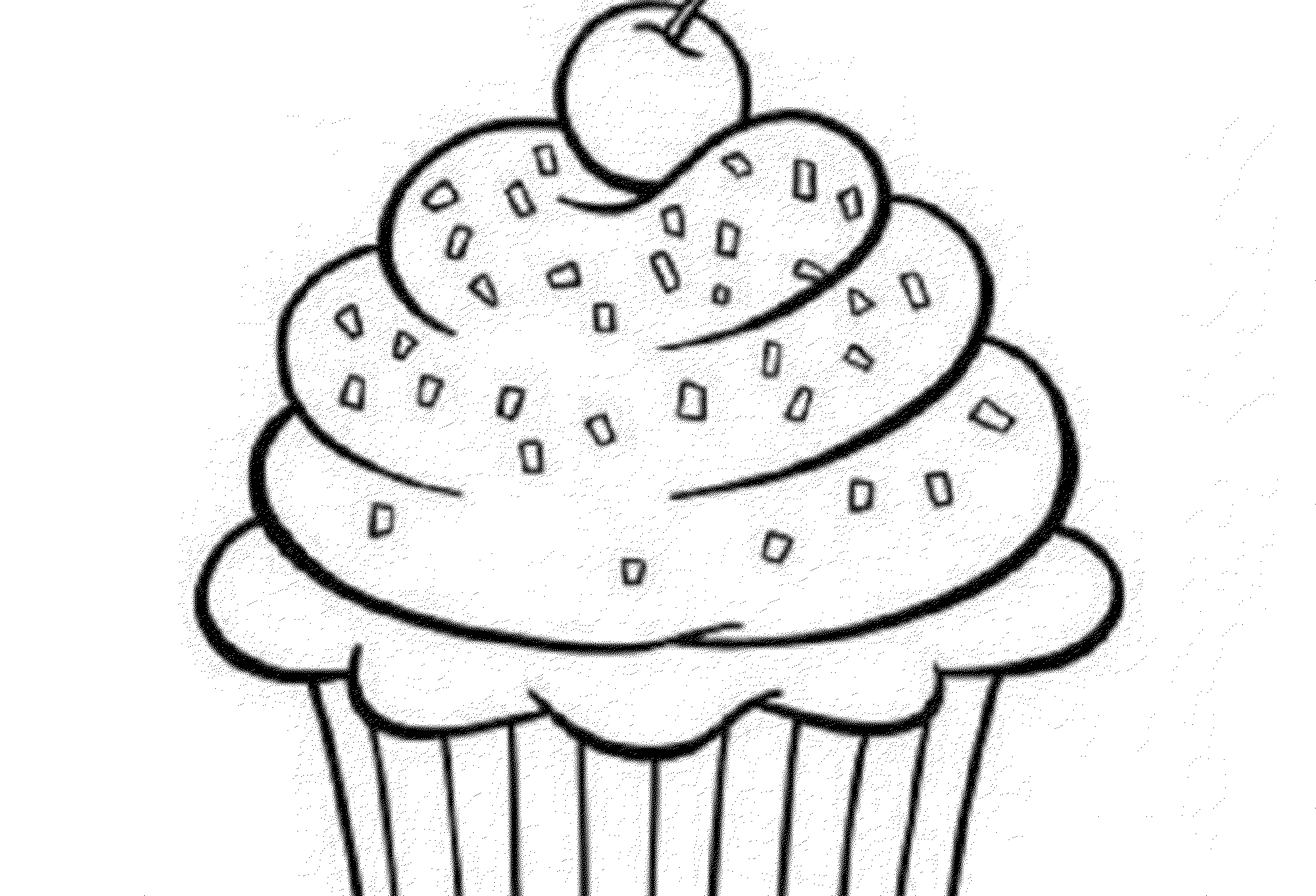 Coloring Pages Of Cupcakes And