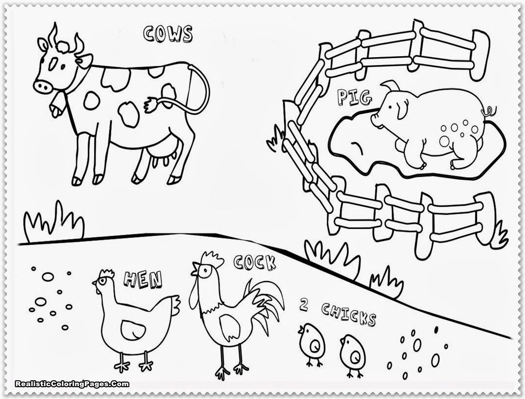 Farm animals coloring pages for toddlers - Baby Farm Animal Coloring Pages Only Coloring Pages