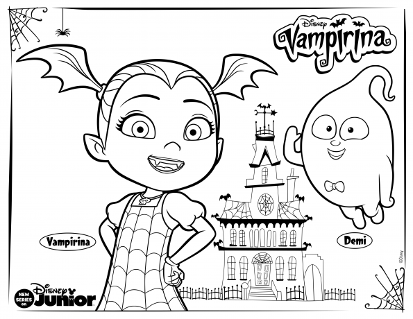 Vampirina And Friends Coloring Pages Coloring Home