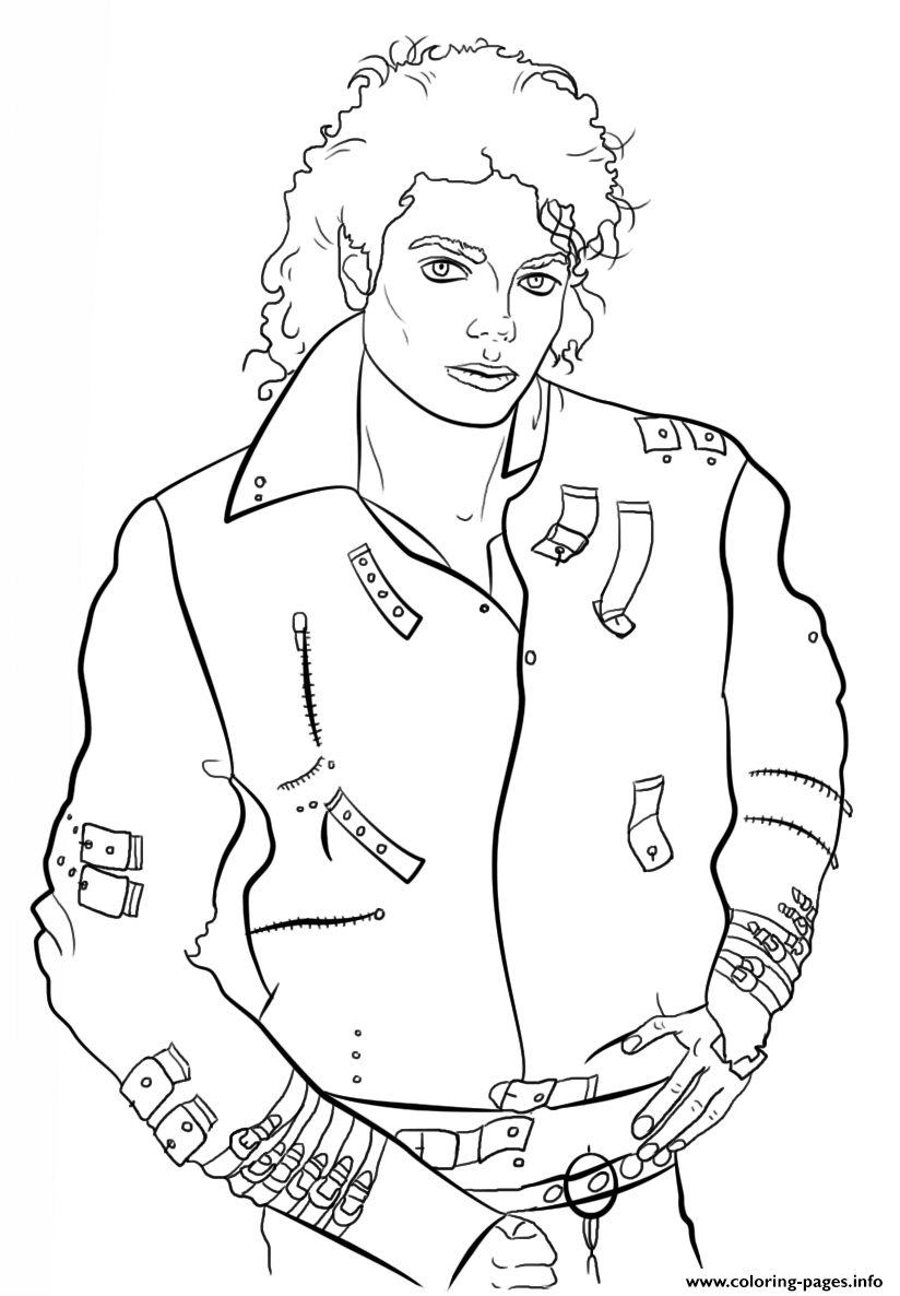 Michael Jackson Celebrity Coloring Pages Printable Coloring Home