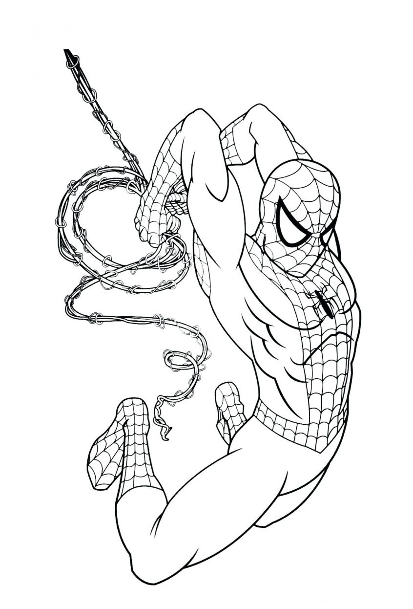 Iron Spider Coloring Pages - Coloring Home