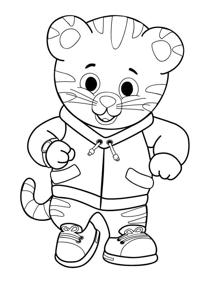 Daniel tiger coloring page home