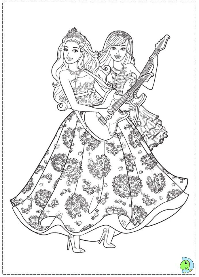 - Barbie Princess Coloring Pages - Coloring Home