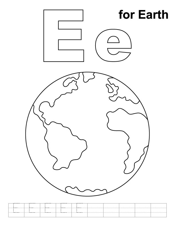Earth Template Printable