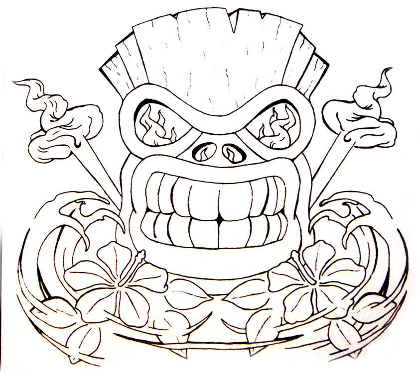 Tiki Mask Coloring Pages Az Coloring Pages Tiki Coloring Pages