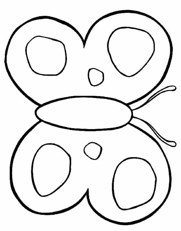 b for butterfly coloring pages - photo#46