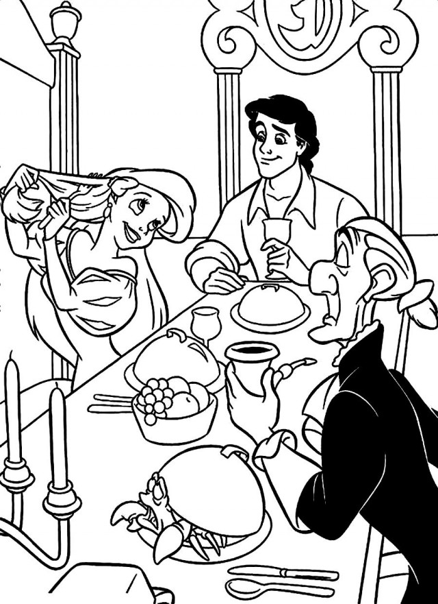 Download Ariel In Prince Eric 39 S Palace Disney Coloring Pages Or