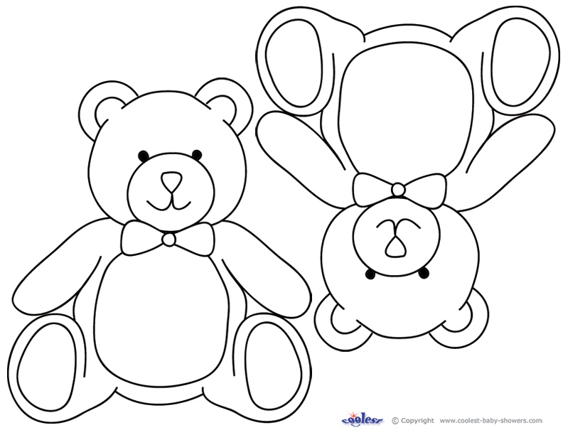 Printable Colouring Teddy Bear : Teddy Bear Templates AZ Coloring Pages