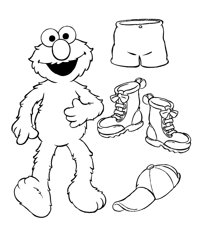 Gangster Elmo Coloring Pages Free Elmo Coloring Pages