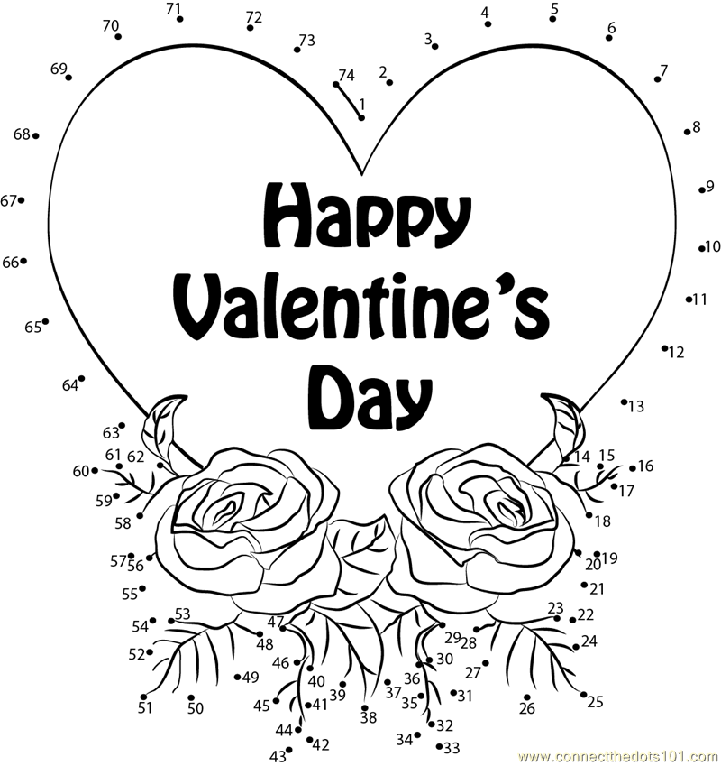 valentine connect the dots coloring pages - photo #29