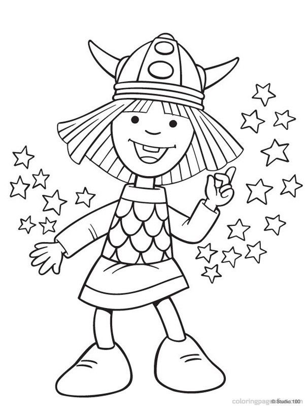 Viking Free Coloring Pages