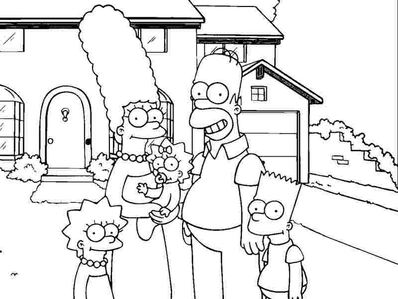 Bart Homer Lisa And Marge Simpsons Coloring Pages Coloring Home