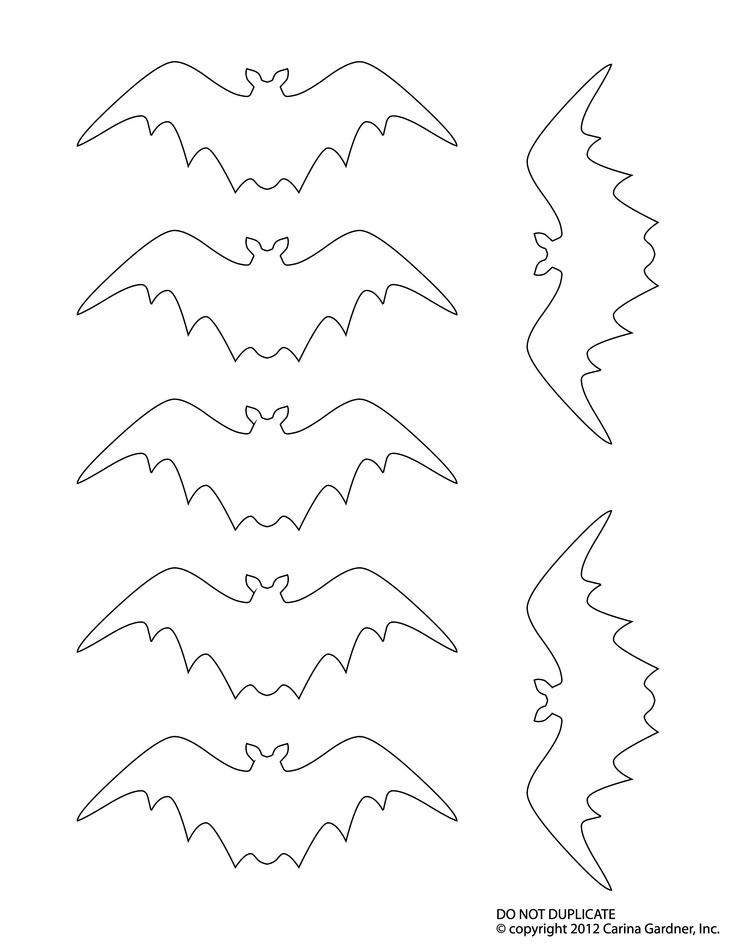 Bat Outline Template AZ Coloring Pages
